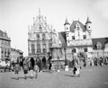 Main square of the old Belgian town of Mecheein (Malines), 1944