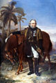 Lieutenant General Sir Charles Napier and his arab charger Red Rover, 1853
