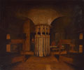 The interior of a barrack room, possibly in a Martello Tower, 1812 (c)