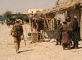 3rd Battalion The Parachute Regiment patrol through Sangin, Helmand Province, Afghanistan, 2006