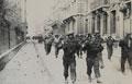 British prisoners marching through Dieppe, France, 1942