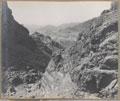 Looking through the Tanai Gorge towards Landi Khana, 1919
