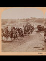Lord Roberts and escort of Imperial Yeomanry entering Kroonstadt, South Africa, 1900