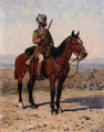 A mounted sowar in drab full dress, Guides Cavalry, 1902 (c)