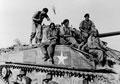 Indian tank crew astride their Sherman tank, 1944 (c)