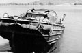 A DUKW emerges after crossing the Irrawady River, 1945