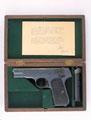 Unmarked mahogany case for Colt self-loading pistol, 1952 (c)