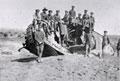 Wrecked British Mark I tank, 'War Baby', Gaza, 1918
