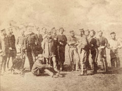 Survivors of the 13th Regiment of Light Dragoons after the Battle of Balaklava, 1854