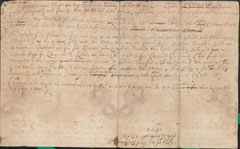 Draft letter by Sir Edward Walker, Secretary of War to King Charles I, to an unknown recipient identified only as Sir Nico (or Nicolas),  2 September 1644