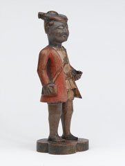 Carved wooden Company school figure of a sepoy of the Madras Army, 1785 (c)