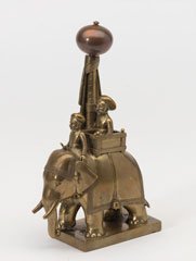 Bronze figurine of a Maharajah and mahout on an elephant, 1795 (c)
