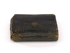 Leather toilet case, Captain John Edmund Whaite, 10th (North Lincoln) Regiment, 1849 (c)