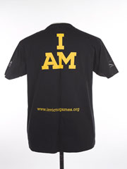 Promotional t-shirt advertising the inaugural Invictus Games, 2014