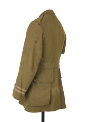 Service tunic worn by Captain George Johnson, 2nd Battalion, The Duke of Cambridge's Own (The Middlesex Regiment) on 1 July 1916