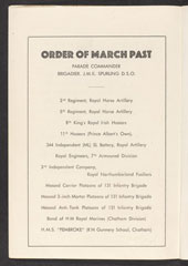 Programme, British Victory Parade, Berlin, 21 July 1945