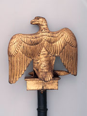 French eagle standard captured at Waterloo, 1815