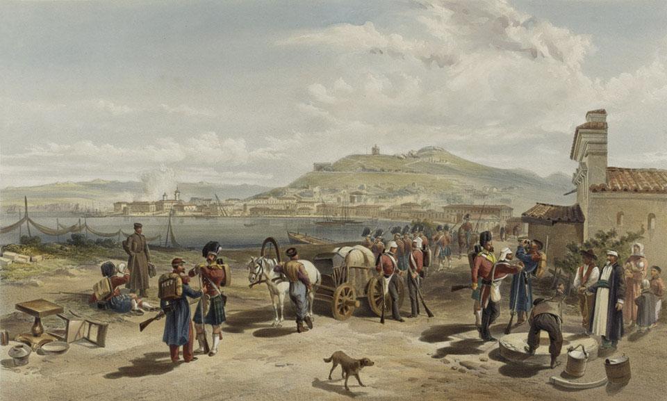 Вид Керчи с севера. (Уильям Симпсон). Из коллекции NAM.