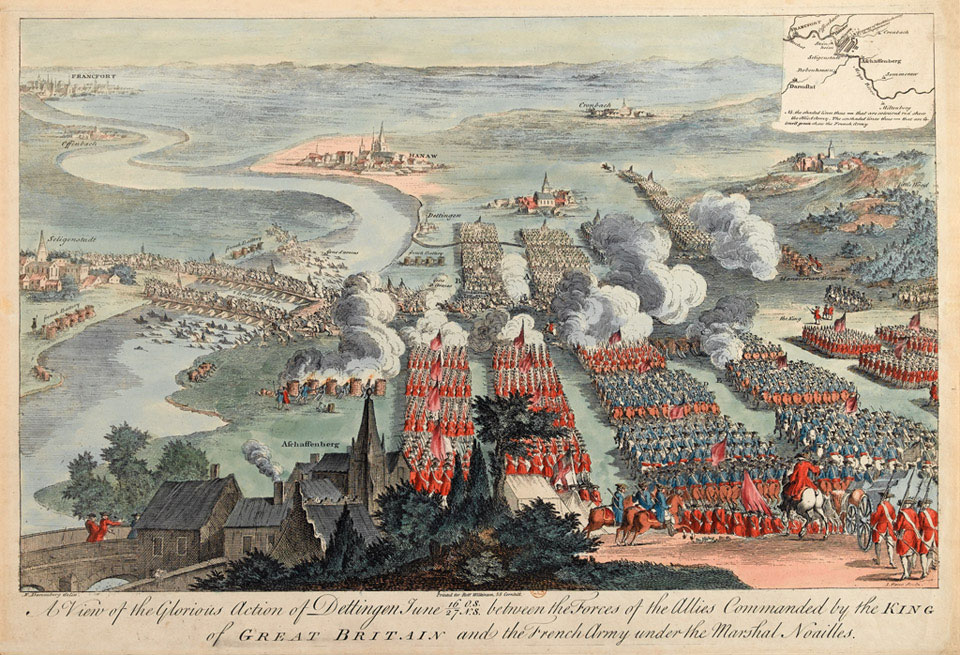 The Battle of Dettingen, 27 June 1743