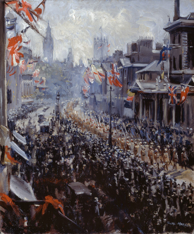 Peace Celebrations Indian Troops Marching Down Whitehall, 1919