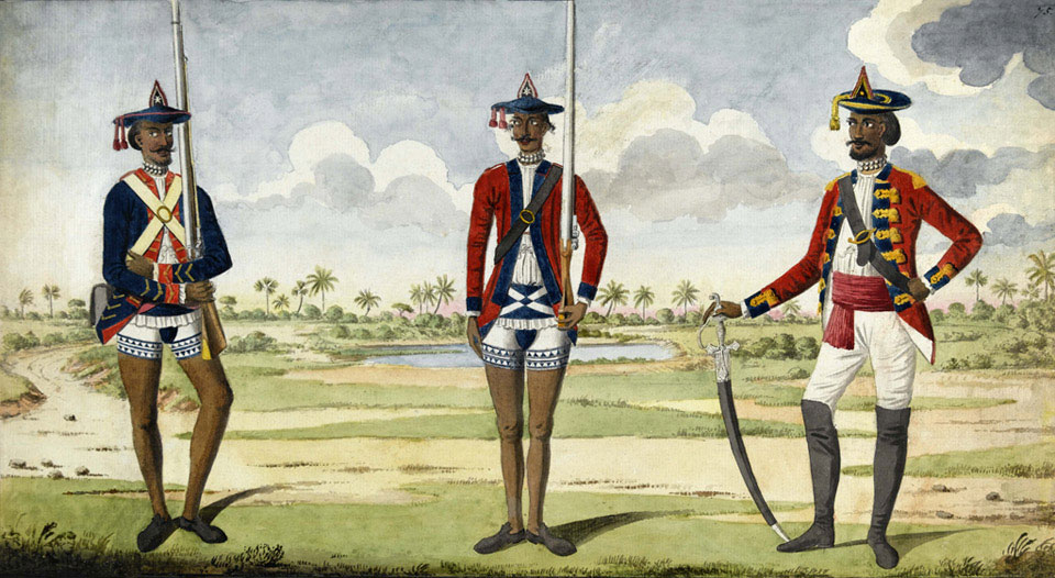 Troops of the Bengal Army, 1785 (c)