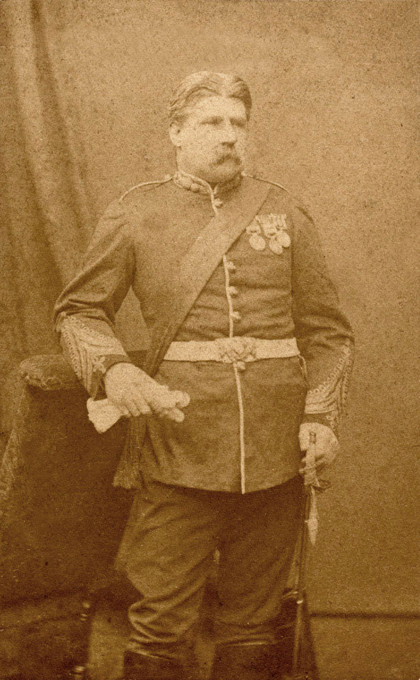 Lieutenant-Colonel Campbell Clark, 104th Regiment of Foot (Bengal Fusiliers), 1877 (c)