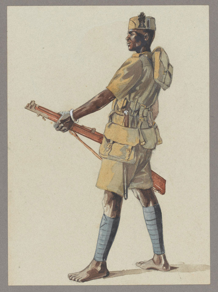 Askari of the 1st (Central Africa) Battalion, King's African Rifles, 1914 (c)