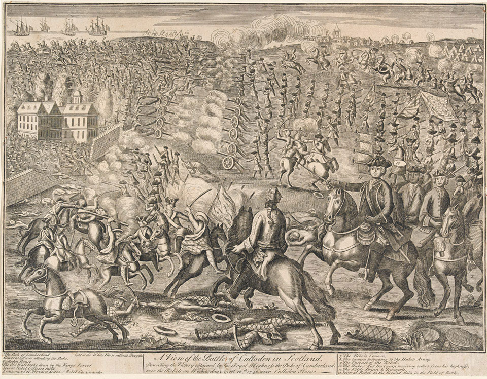 'A View of the Battle of Culloden in Scotland', 1746