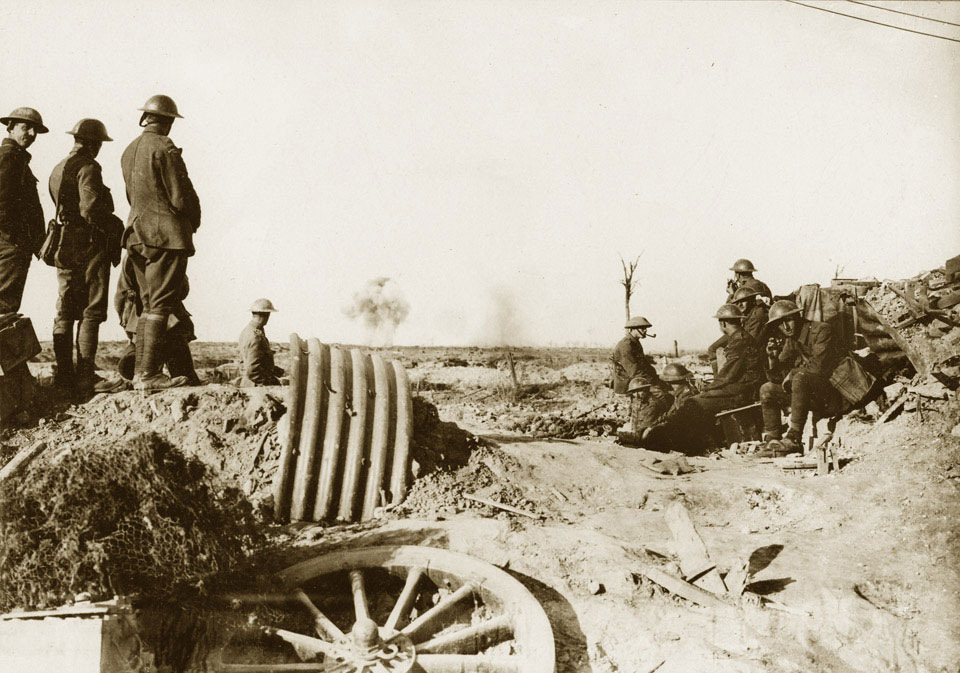 British troops near Boesinghe, 18 August 1917