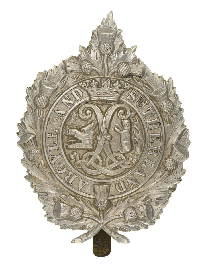 Cap badge, Princess Louise's (Argyll and Sutherland Highlanders), 1914 (c)