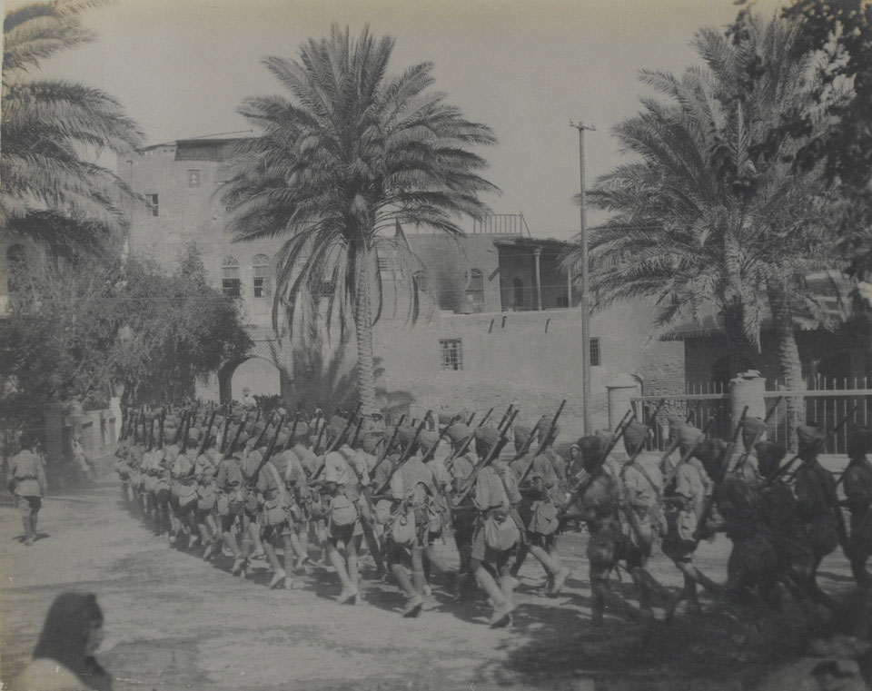 Indian troops entering the Citadel Gate, Baghdad, 1917
