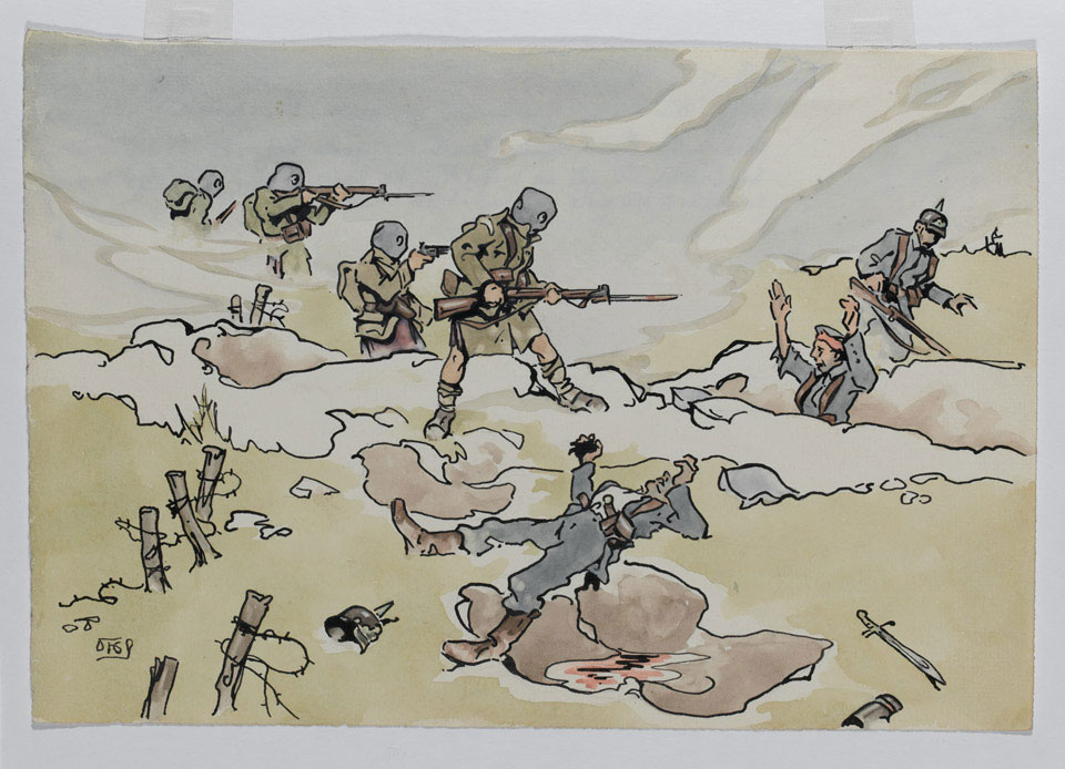 'Loos Battle, 5th Camerons in the Hohenzollen Redoubt, 25th September 1915'