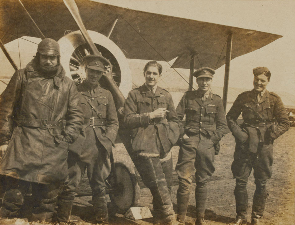 Airmen of 54 Squadron, Royal Flying Corps, 1917