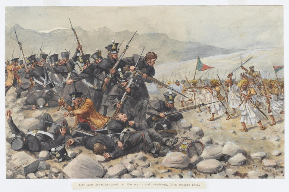 'Last stand of the 44th East Essex Regiment at Gandamuk, 12th January 1842'