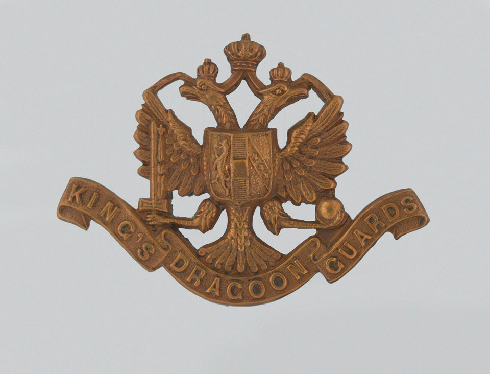 Cap badge, other ranks, 1st King's Dragoon Guards, 1904 (c)