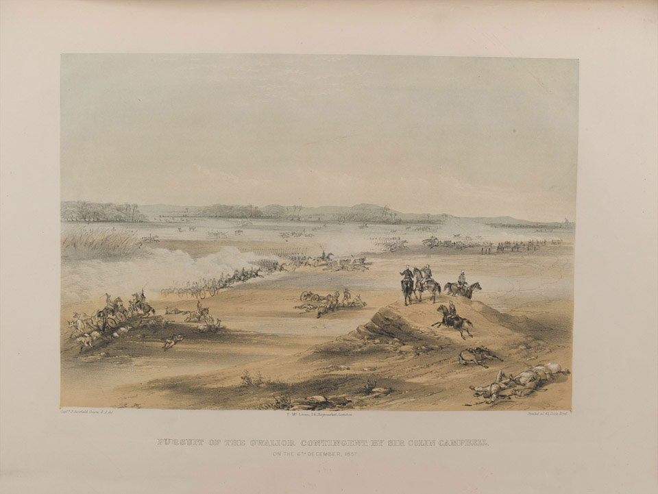 'Pursuit of the Gwalior Contingent, by Sir Colin Campbell, on the 6th Dec, 1857'