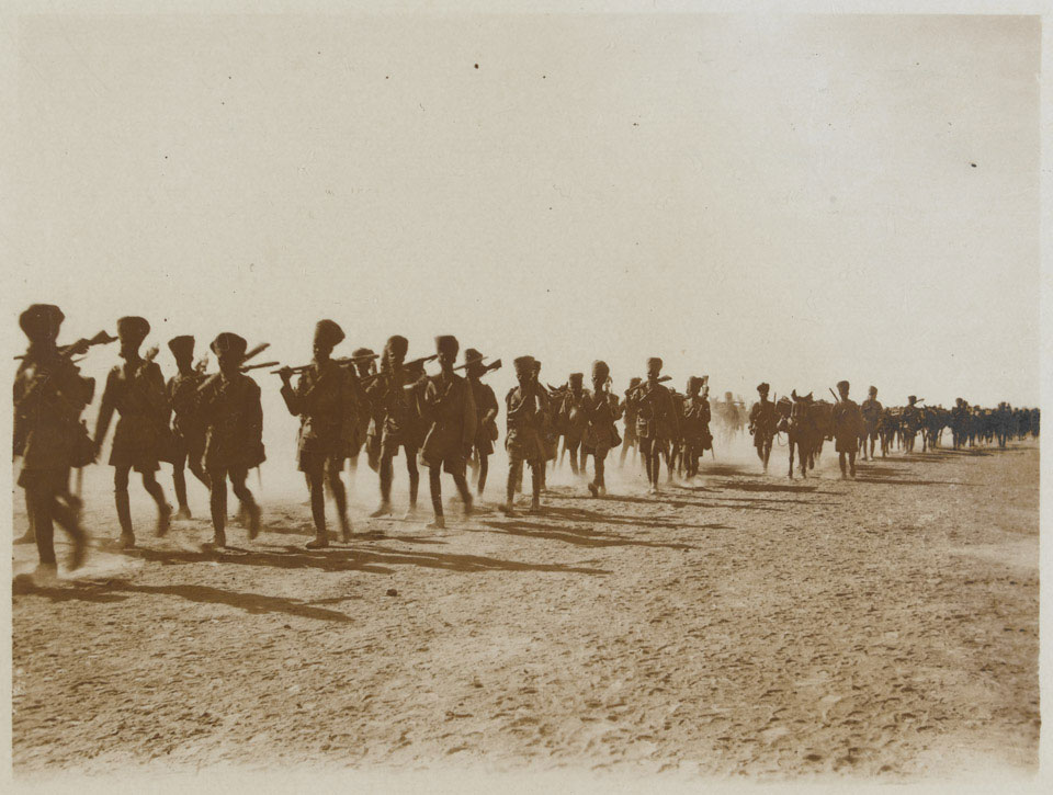8th Rajputs on the march in Mesopotamia, November 1917