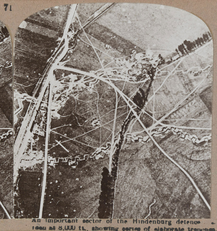 'An important sector of the Hindenburg defences as seen at 8,000 ft', 1917 (c)