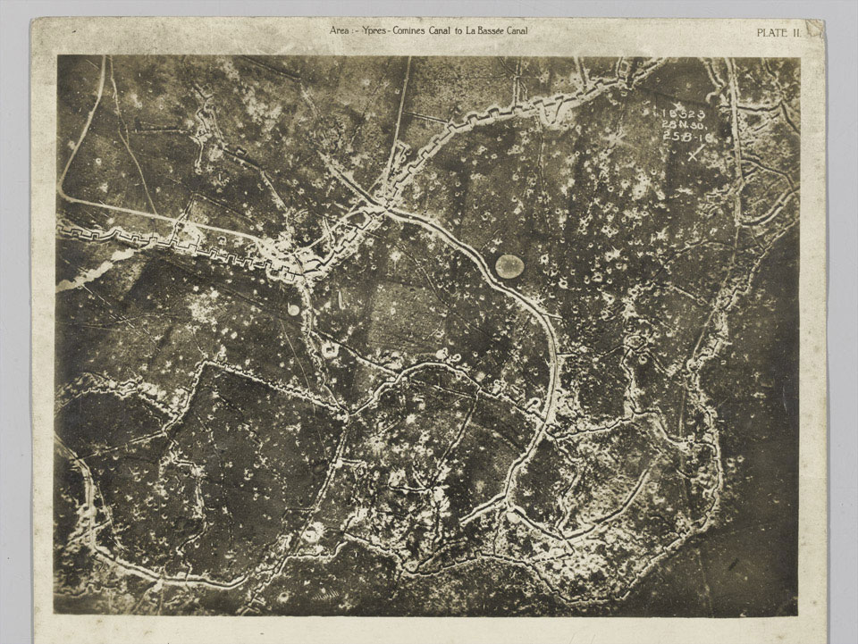 Aerial view of the front, 25 August 1916