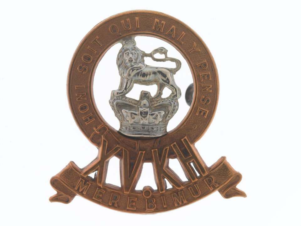 Cap badge, other ranks, 15th (King's) Hussars, 1900 (c)