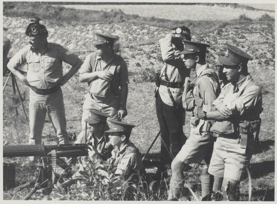 Machine Gun Company training at Fanling Camp, New Territories, 1938 (c)