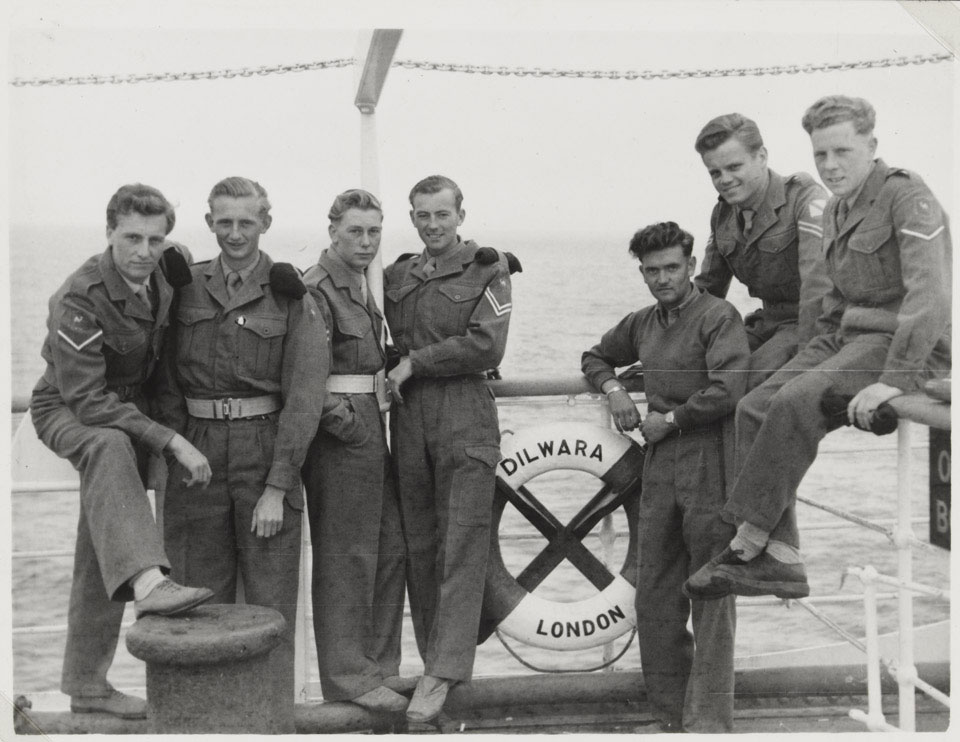 Number 47 GHQ Survey Squadron, Royal Engineers, homeward bound from Suez on the SS 'Dilwara', May 1954