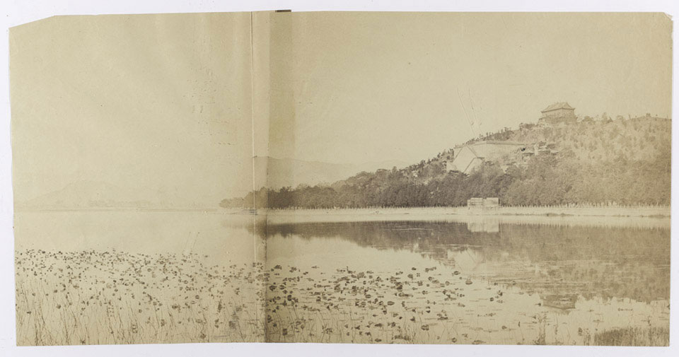 Landscape view of the Summer Palace, Peking, 1860