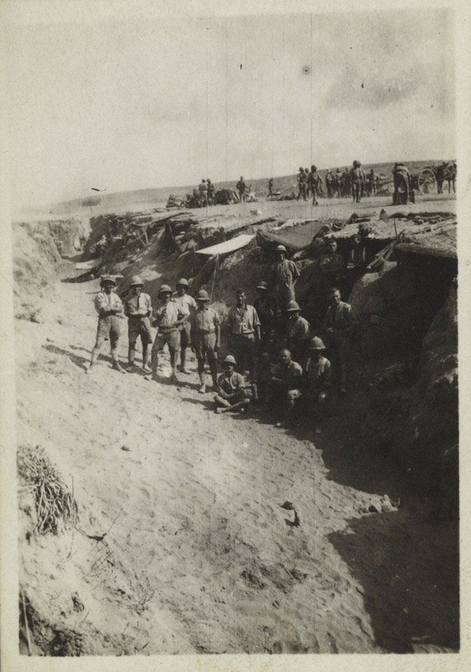British Soldiers in a wadi in Libya, October 1916