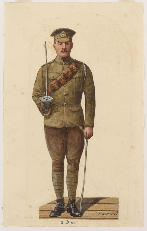 A trooper of the 2nd Dragoon Guards (Queen's Bays), 1910 (c)