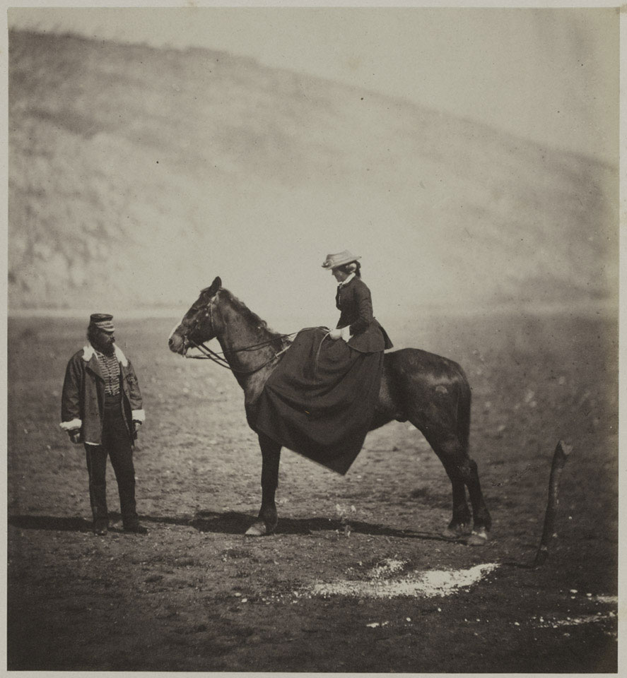Captain Henry Duberly, Paymaster 8th (The King's Royal Irish) Light Dragoons (Hussars) and Mrs Duberly, Crimea, 1855