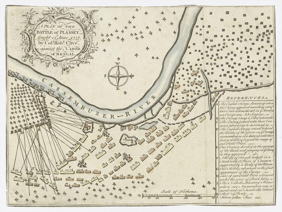 map plan for Battle of Plassey
