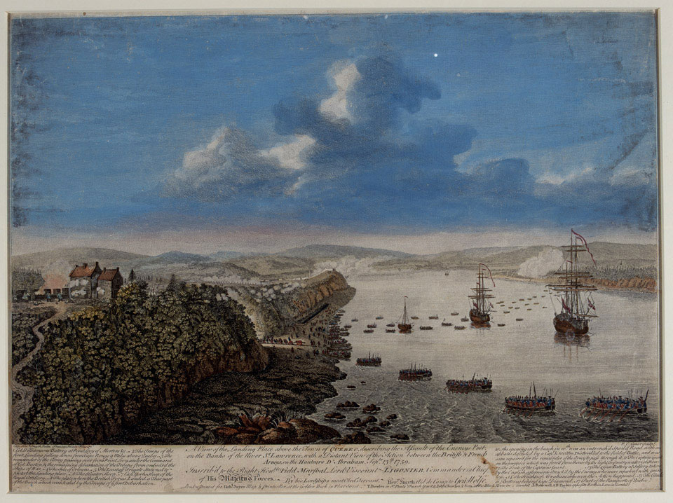 View of the Landing Place above the Town of Quebec describing the Assault, 1759