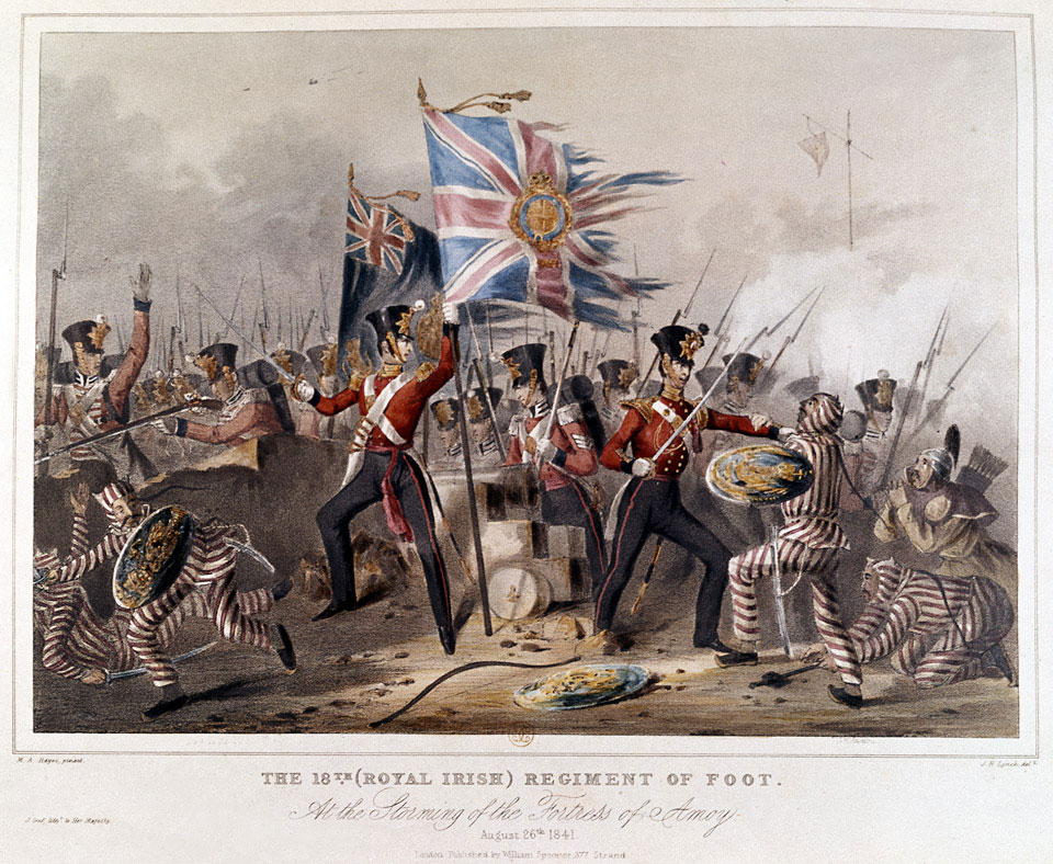 The 18th (Royal Irish) Regiment of Foot. At the Storming of Amoy, 1841