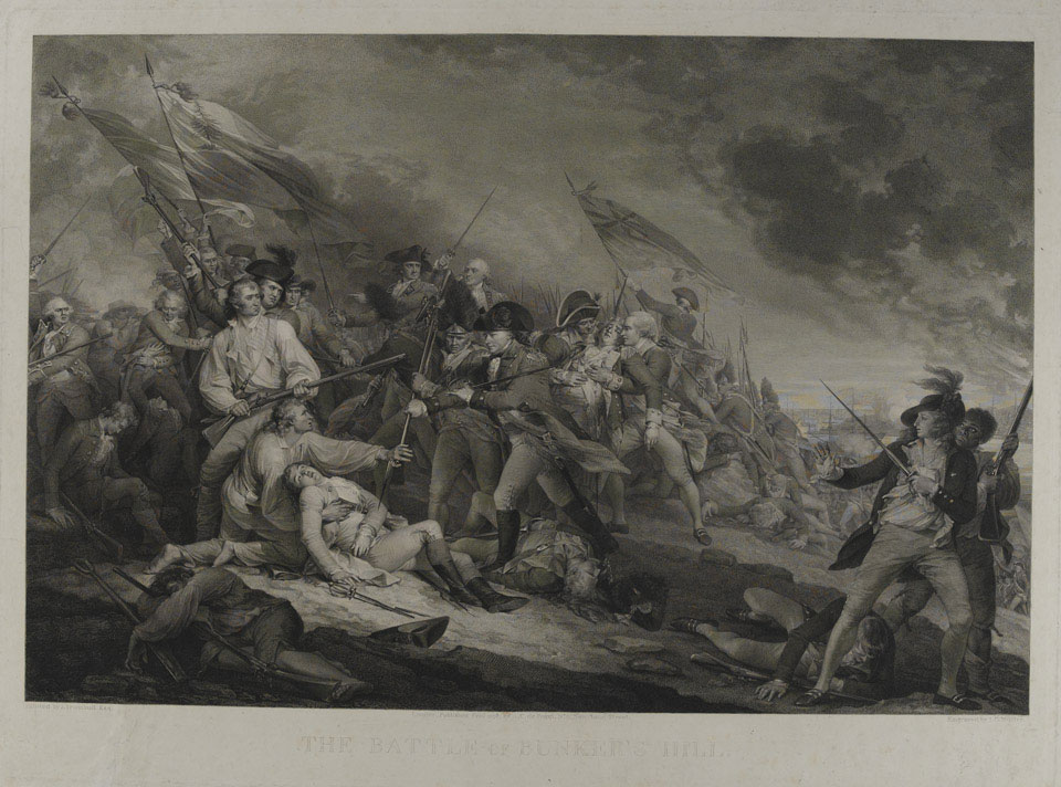 The death of General Warren at the Battle of Bunker's Hill, 1775